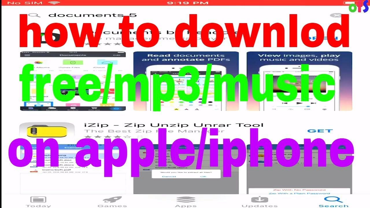 how to download free mp3 on apple /iphone Free download