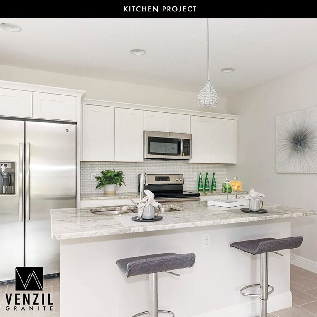 Project Done By Venzil Granite Blue Island Builders New Construction Contact Us For An Estimate 1 407 5356765 V Kitchen Countertops Kitchen Countertops