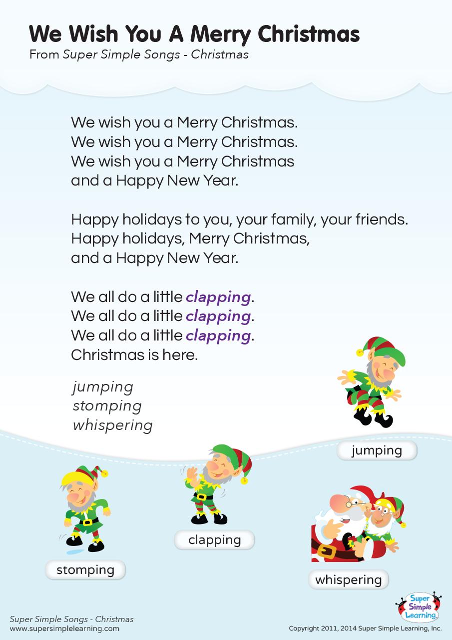 We Wish You A Merry Christmas Lyrics Poster Christmas