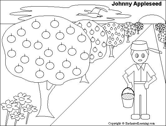 Johnny Appleseed Printout Zoomschool Com Johnny Appleseed Activities Johnny Appleseed Apple Seeds