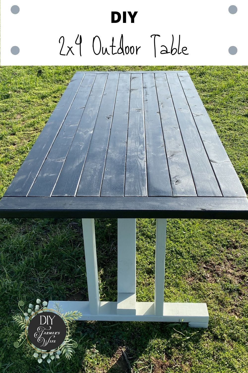 2x4 Diy Outdoor Table In 2020 Outdoor Tables Diy Outdoor