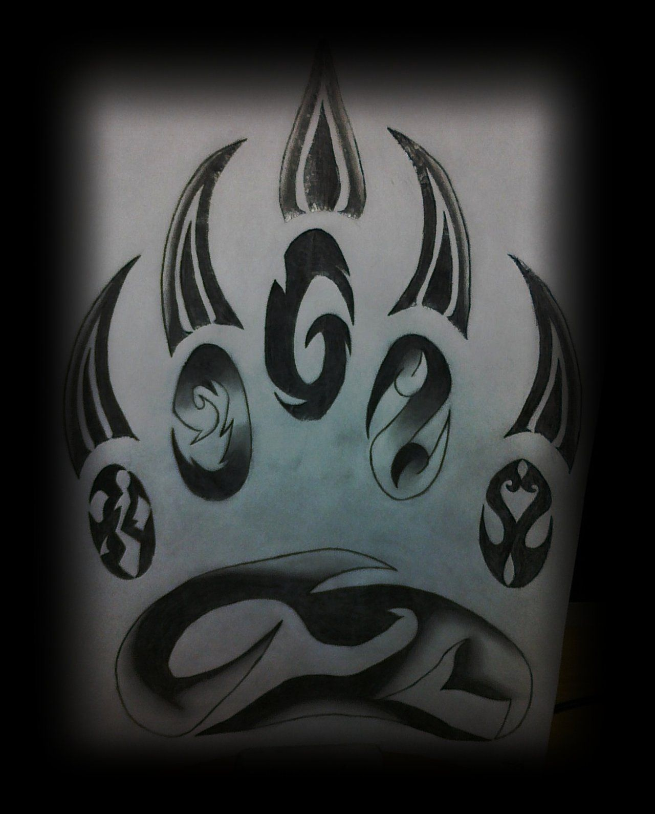 Bear paw tattoo by on deviantart for Tribal claw tattoo