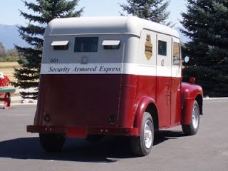 We Love Ford S Past Present And Future 1952 Ford Bank Armored Truck Armored Truck Armor Armored Vehicles