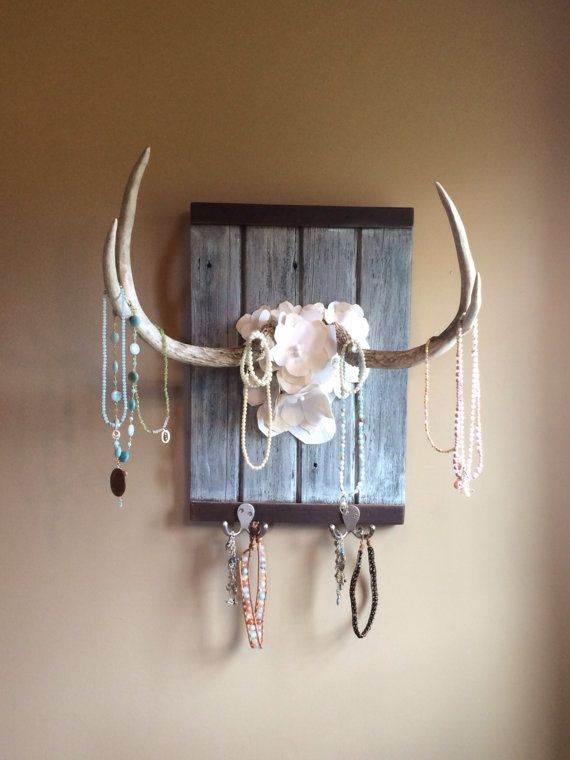 This is an new handmade adorable Antler Wall Hanging Jewelry