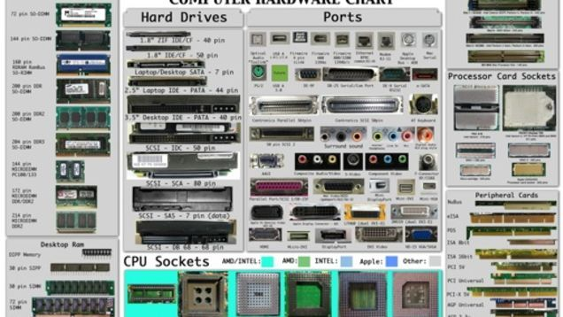 The Computer Hardware Chart Identifies Your Pc S Parts Computer Hardware Computer Cpu Computer Processors