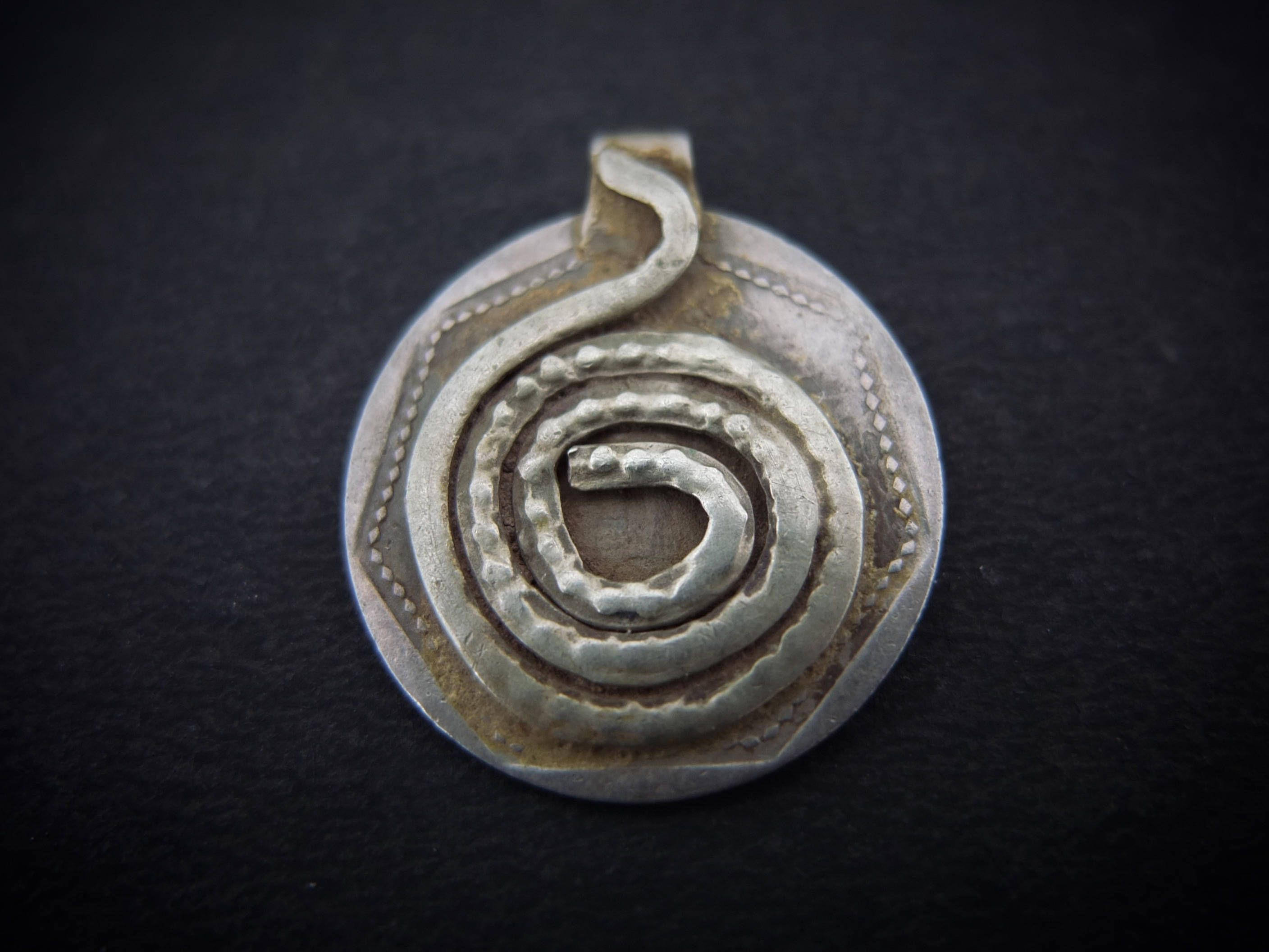 Naga snake pendant on old coin from india tribal gypsy jewelry naga snake pendant on old coin from india tribal gypsy jewelry rajasthan ethnic pendant aloadofball