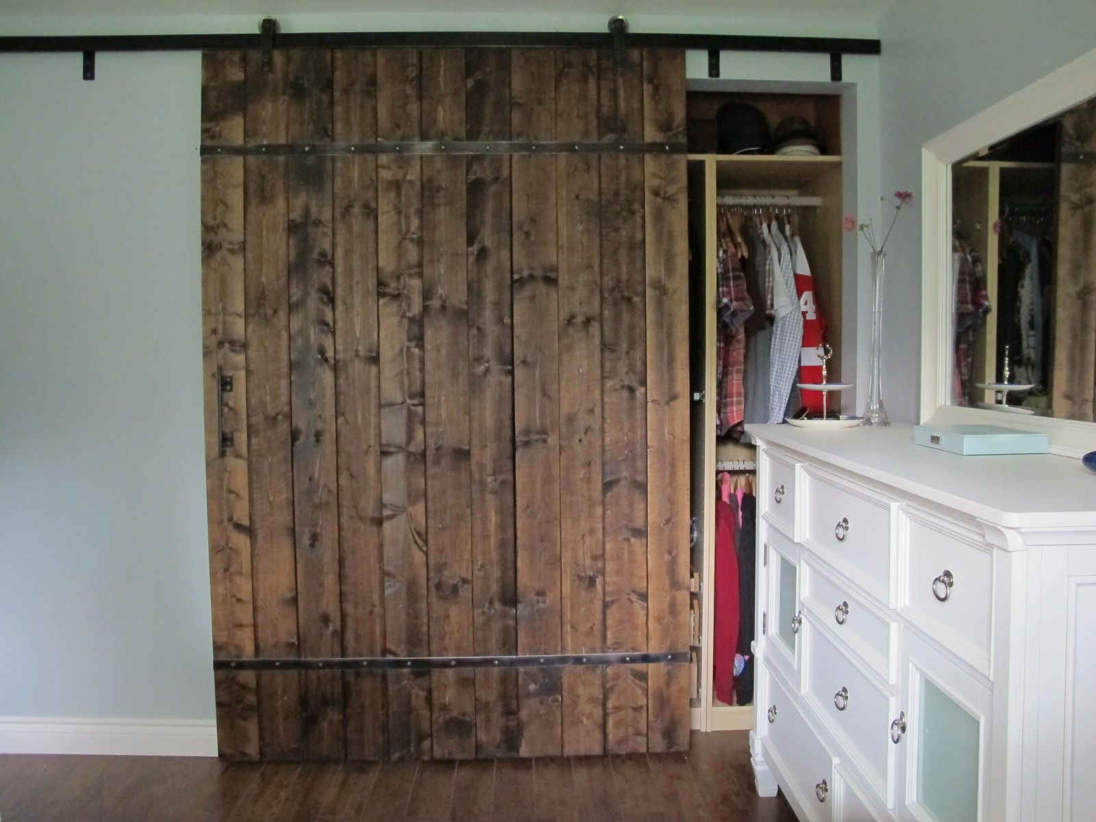 Rustic Home Depot Closet Door With Natural Wooden Door Ideas