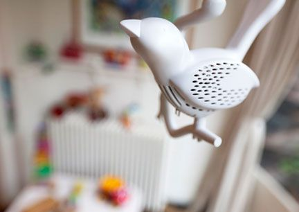 Chick-a-Dee Smoke Detector by Louise van der Velt: Chirps when activated! #Smoke_Detector #Chick_a_Dee #Louise_van_der_Velt