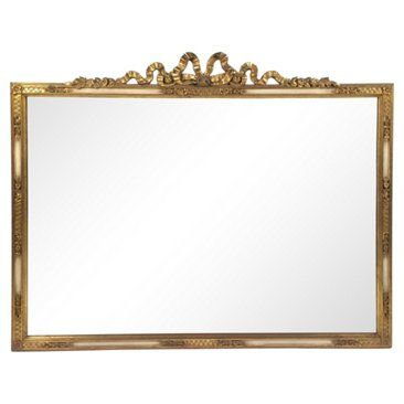 Check out this item at One Kings Lane! French Giltwood Ribbon Crest Mirror