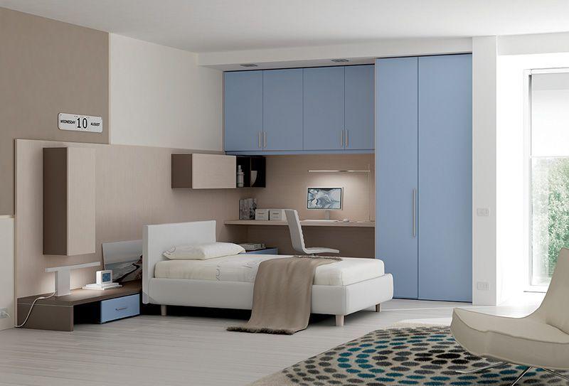 Design Camerette ~ Arredamento #cameretta #ponte laccato cristallo #cabina #armadio