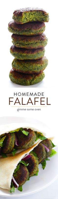 This falafel recipe is full of fresh ingredients, easy to make, and irresistibly good! | gimmesomeoven.com