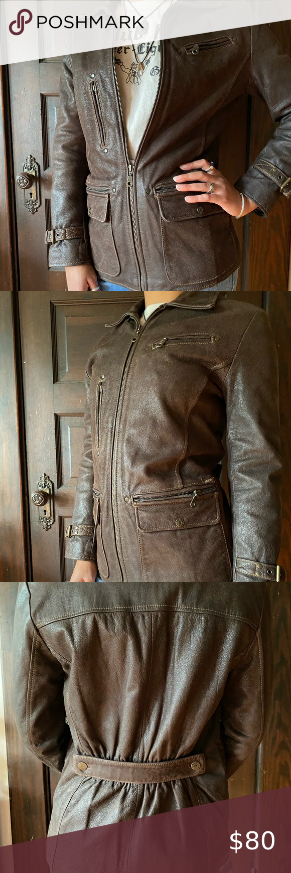 Vintage Guess Leather Jacket In 2020 Leather Jacket Leather Jackets [ 1740 x 580 Pixel ]