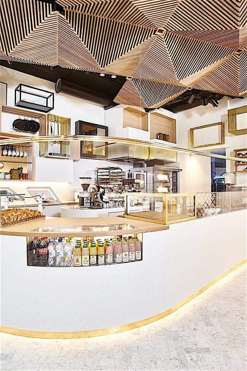 Das neue Restaurant Bit Union in der Regierungsstraße von Oslo Die ...