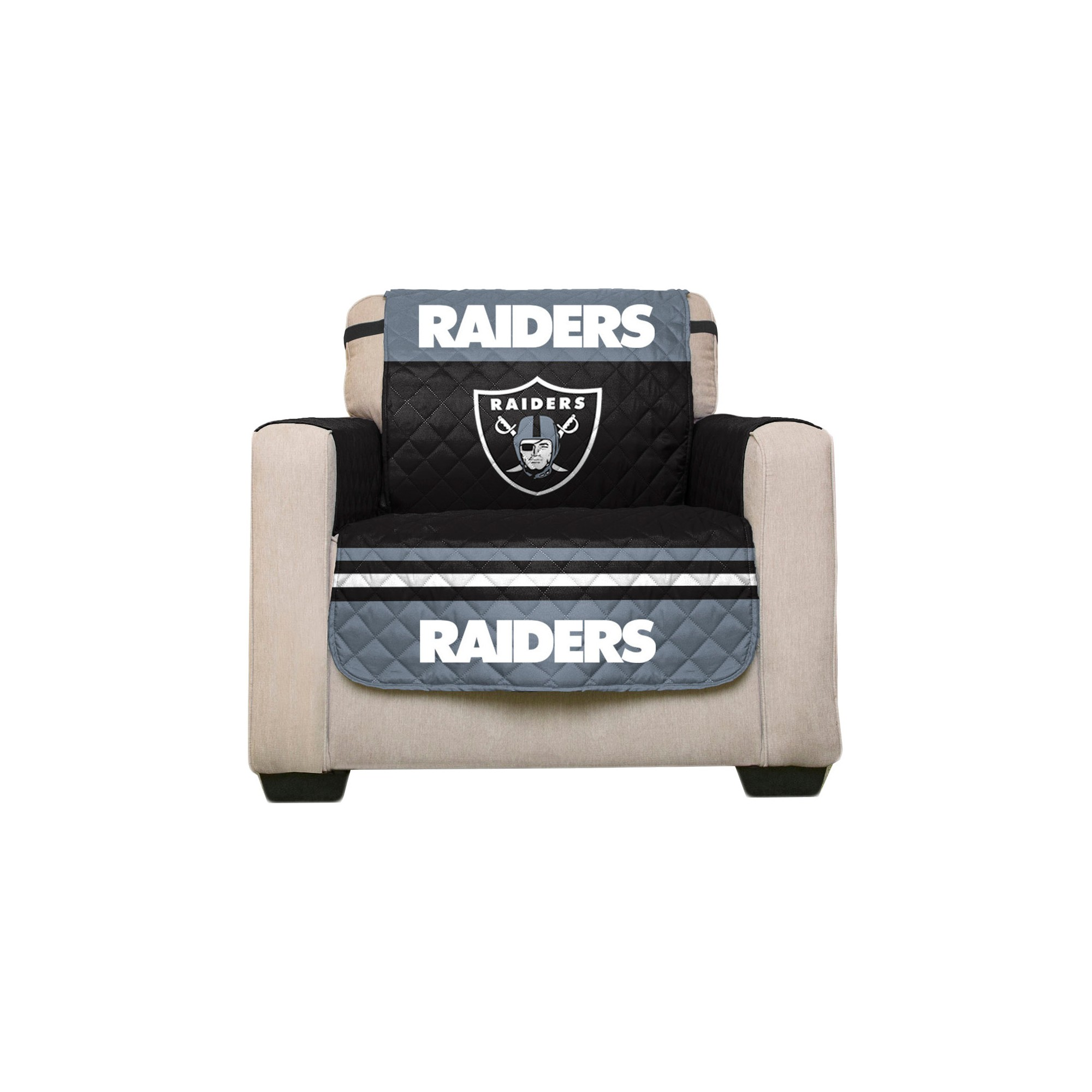 Awesome Oakland Raiders Pegasus Sports Chair Protector In 2019 Machost Co Dining Chair Design Ideas Machostcouk