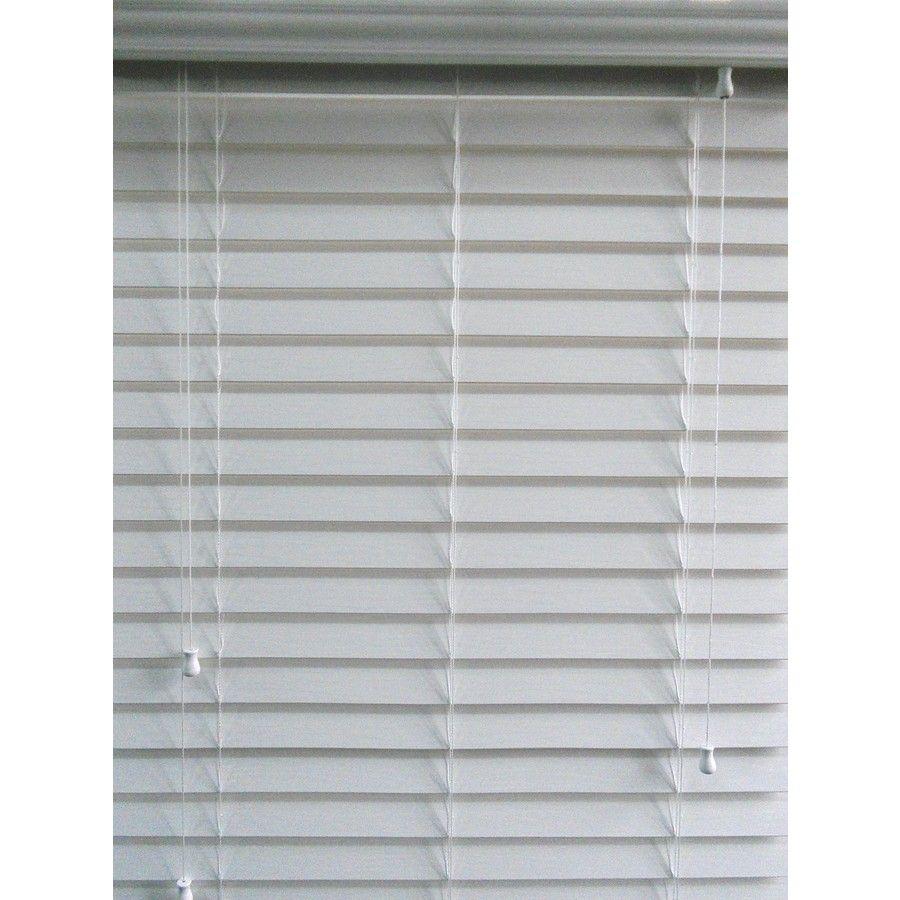 Shop allen + roth 32in W x 64in L White Faux Wood 21/2