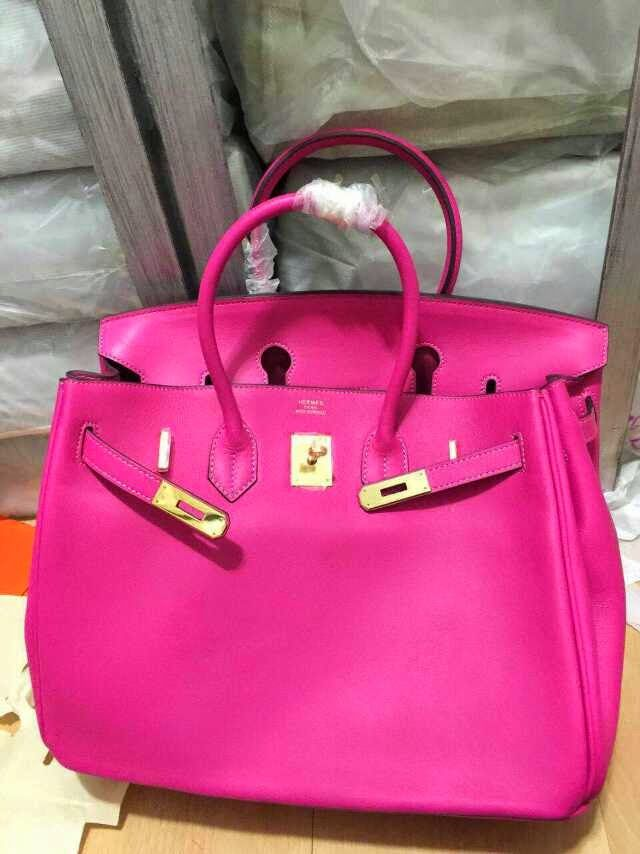 0833647882f6 Love-Bags   Hermes birkin 35 cm Box Calf Leather Hot Pink Gold ...