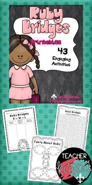 Ruby Bridges NO PREP Printables ~ Black History Month Black - copy free coloring pages for ruby bridges