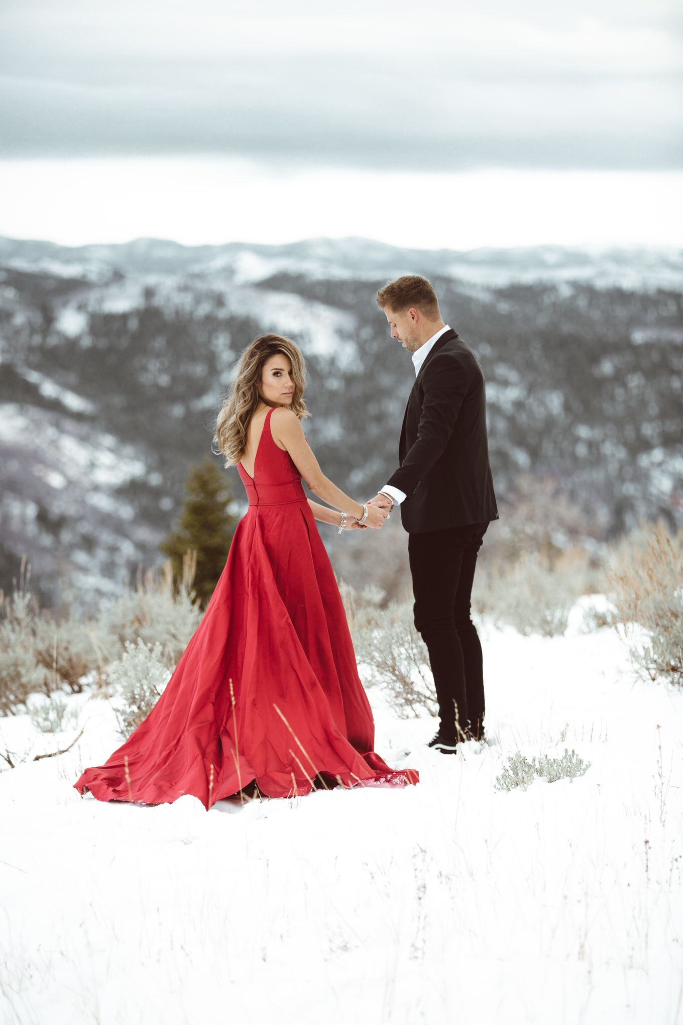 Red maxi dress+gold jewelry. Winter Black tie / Wedding Gest/ Event ...