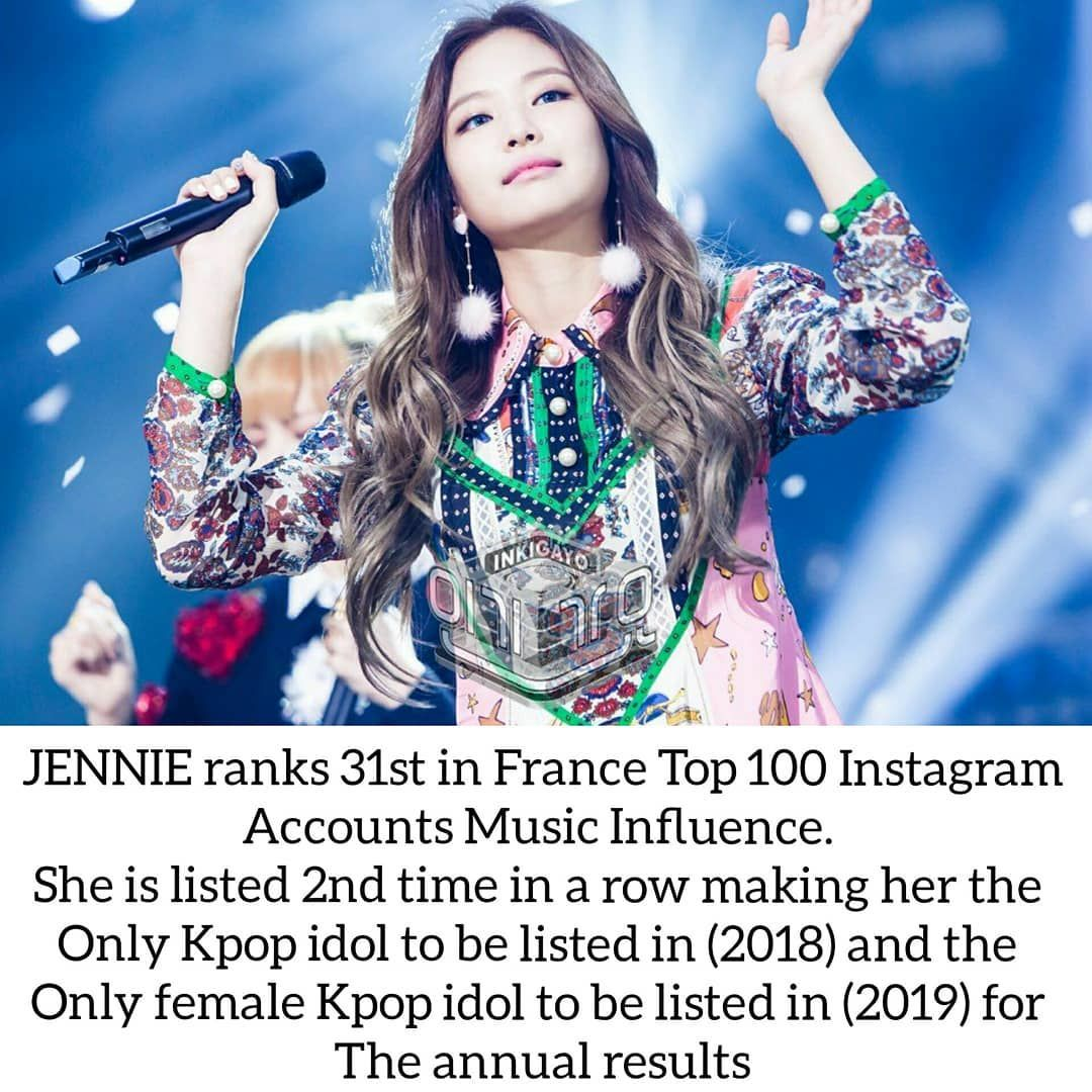 Jrjworld On Instagram In 2018 Jennie Ranked 80 Making Her The Only Kpop Idol To Be On The List In 2019 Jennie Ranked 31 Making Her T Kpop Idol Kpop Idol