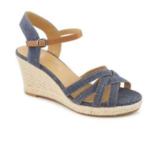 Michael Shannon Cheryl Women's Wedge Sandal (NAVY) | Off Broadway Shoes