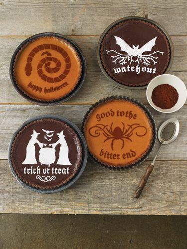 martha stewart crafts halloween cake stencils halloween phrase - Martha Stewart Halloween Cakes