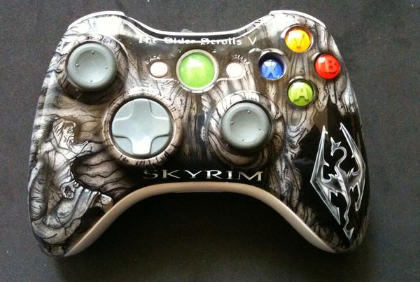 Skyrim Xbox 360 Controller By Chrisfurguson On Deviantart Skyrim Xbox 360 Skyrim Xbox 360 Controller