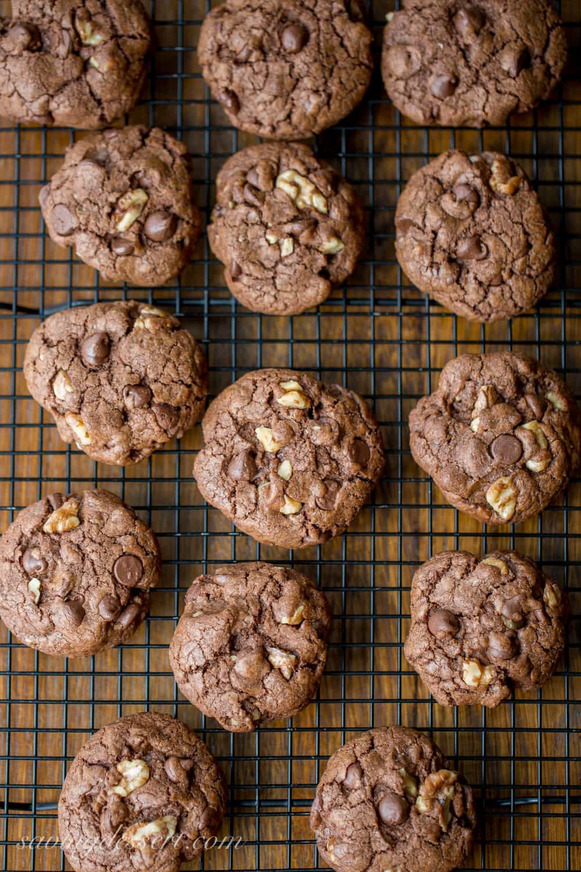 Chocolate chocolatechip walnut cookies recipe