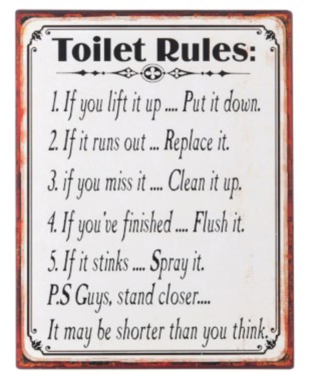 J Line Plakkaat Toilet Rules Home Pinterest Toilet And Room