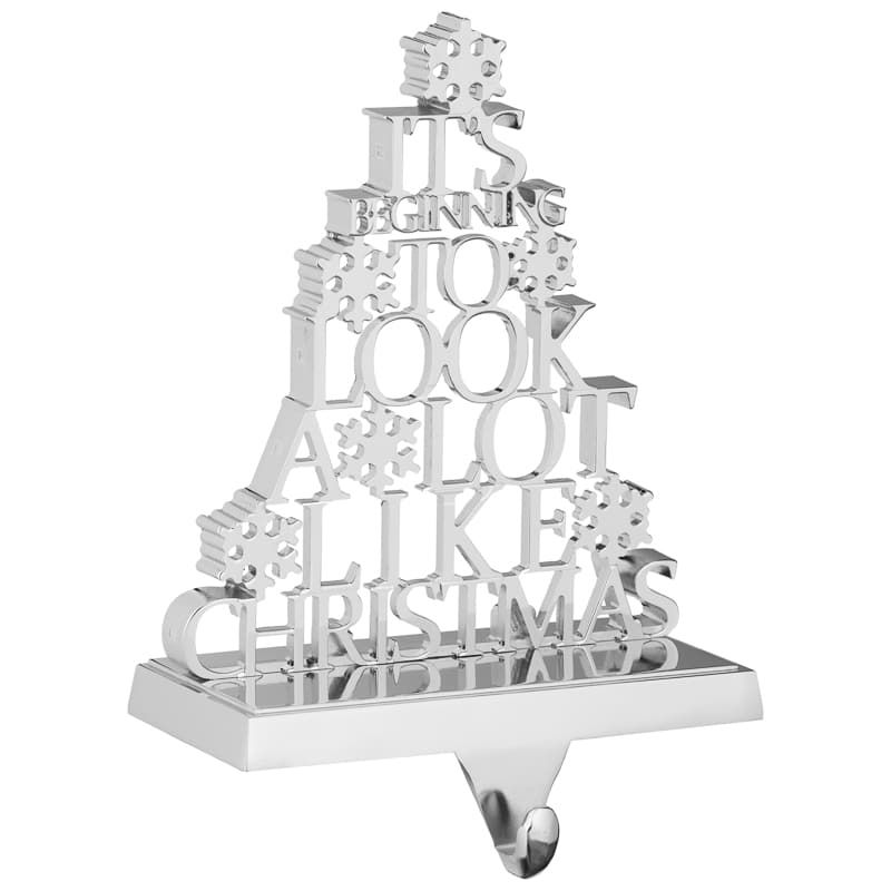 Metal Stocking Holder Beginning To Look A Lot Like Christmas Stocking Holders Christmas Decorations Online Christmas
