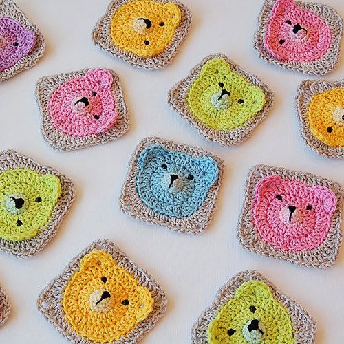 Teddy Bear Granny Square - Tutorial (Crochet For Children) | Häkeln ...