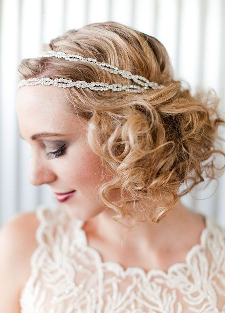 Flapper Hairstyles Glamorous 20S Inspired Flapper Hairstyle Makeup Hair Accessories Diamante