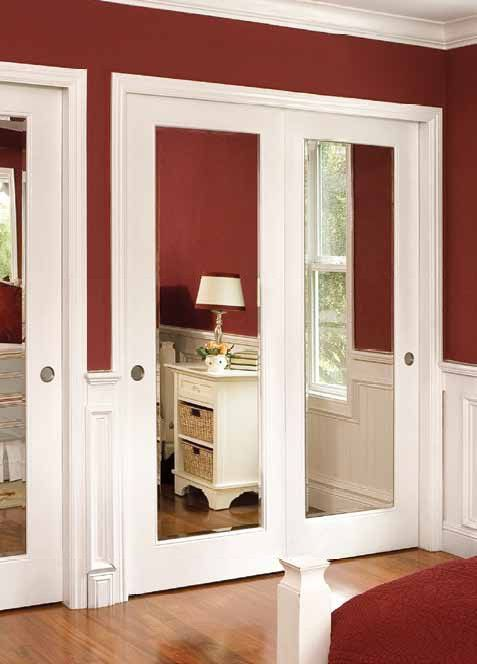 High Quality Interior Slab Door With Mirror Is Good For Offices Or Other Public Premises