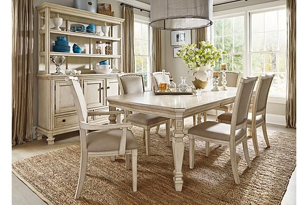 Parchment White Demarlos Dining Room Table View 3 | Dining Rooms ...
