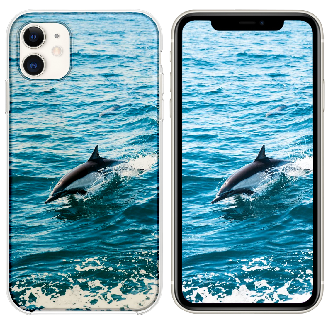 Dolphin Dive Iphone 11 Case And Wallpaper Iphone Wallpaper Iphone 11