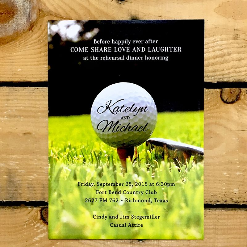 Golf Course Wedding Ideas: Golf Themed Rehearsal Dinner Invitations