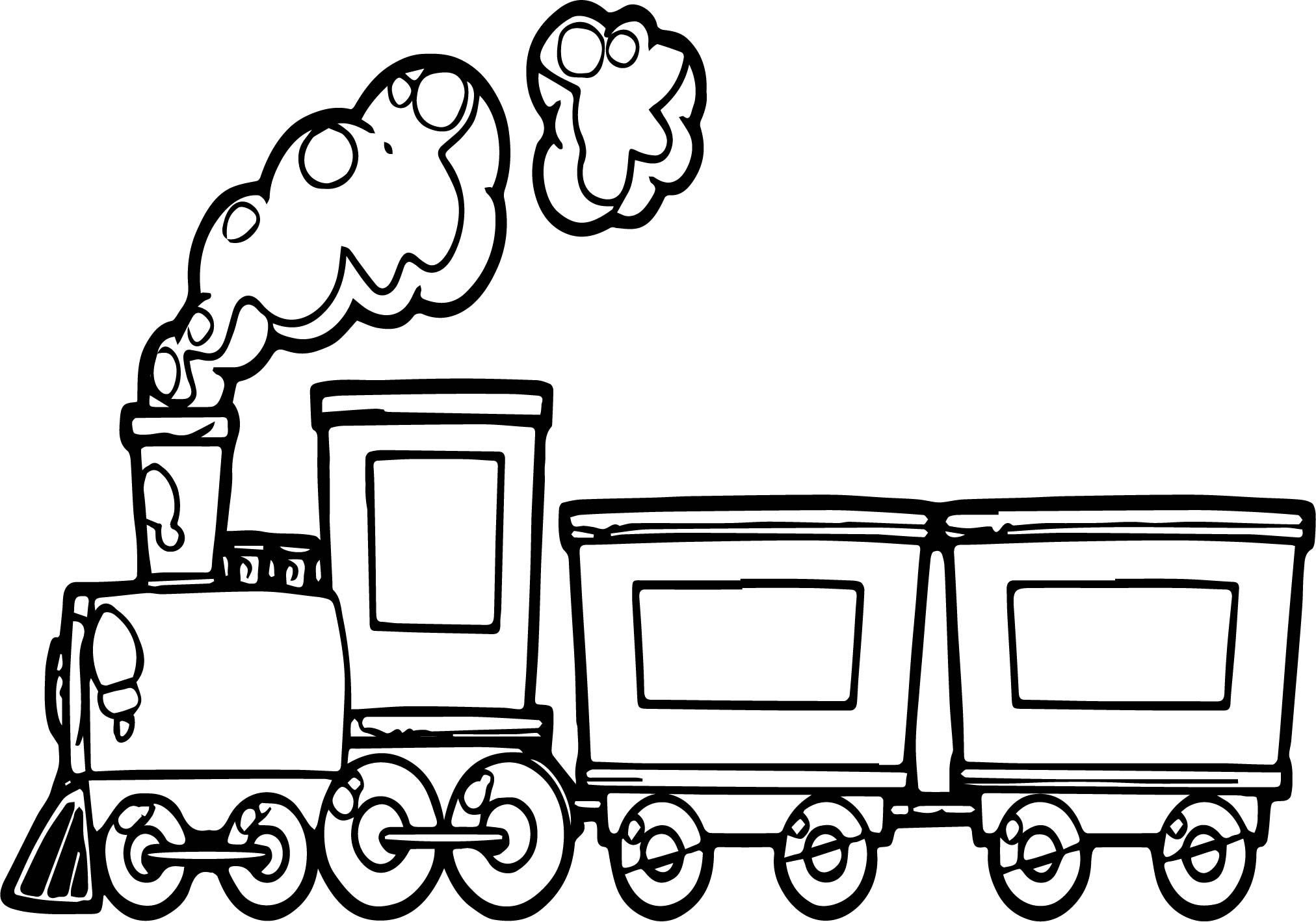 Funny Cartoon Train Coloring Page | cartoon coloring | Pinterest ...