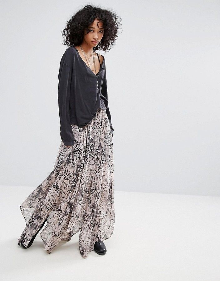 0c55e38f9 Religion Maxi Skirt In Animal Print