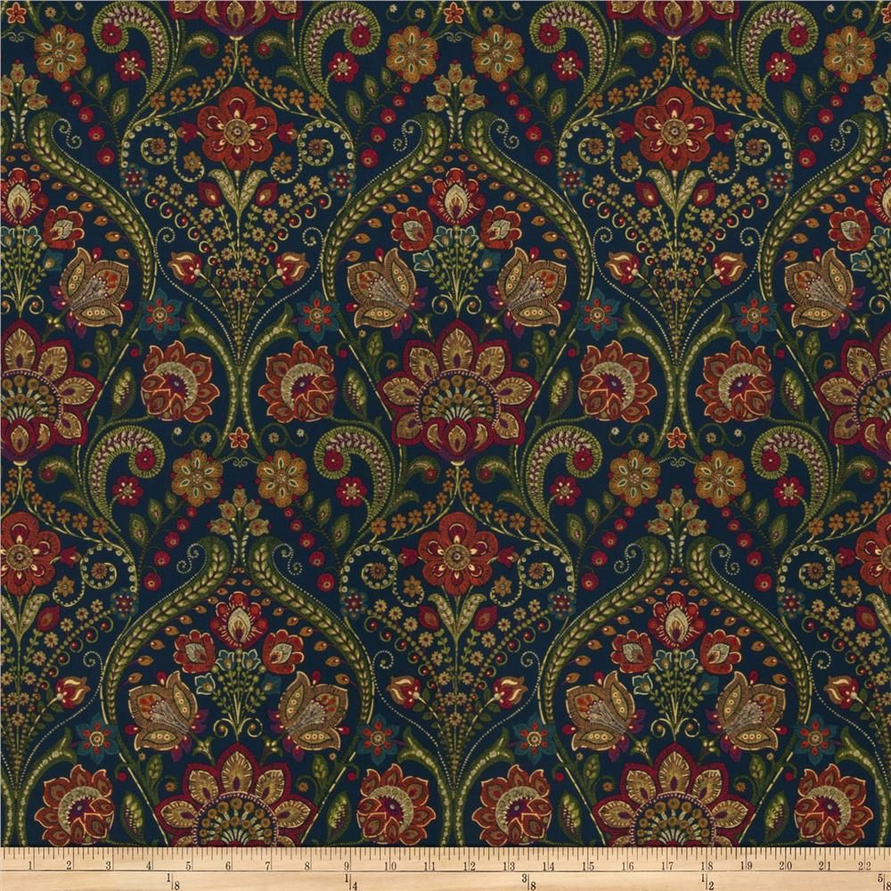 Black Paisley SALE By the yard Designer 100/% Cotton Lightweight Woven Fabric