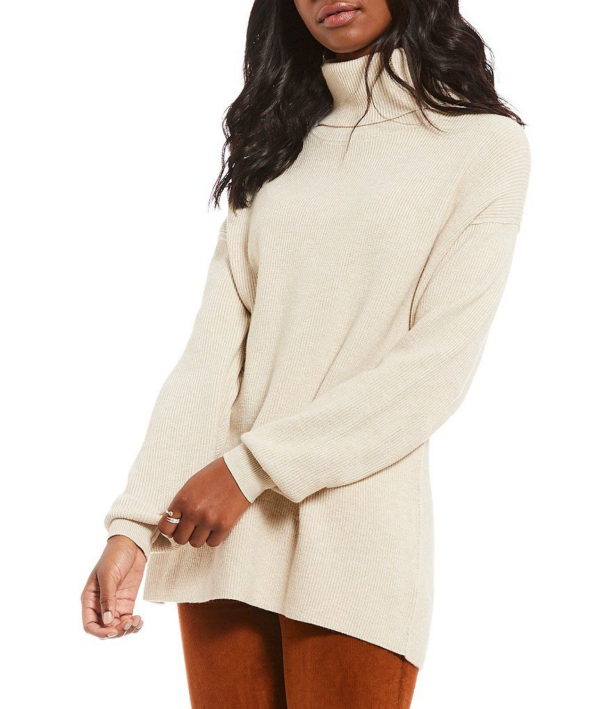 ae7bfba5eef Free People Softly Structured Turtleneck Bishop Sleeve Sweater#Softly,  #Structured, #Free