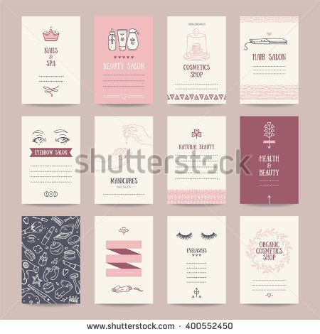 Cosmetics shop business cards beauty parlor invitations nail salon cosmetics shop business cards beauty parlor invitations nail salon flyer spa banner artistic templates collection with thin line symbols and hand drawn colourmoves