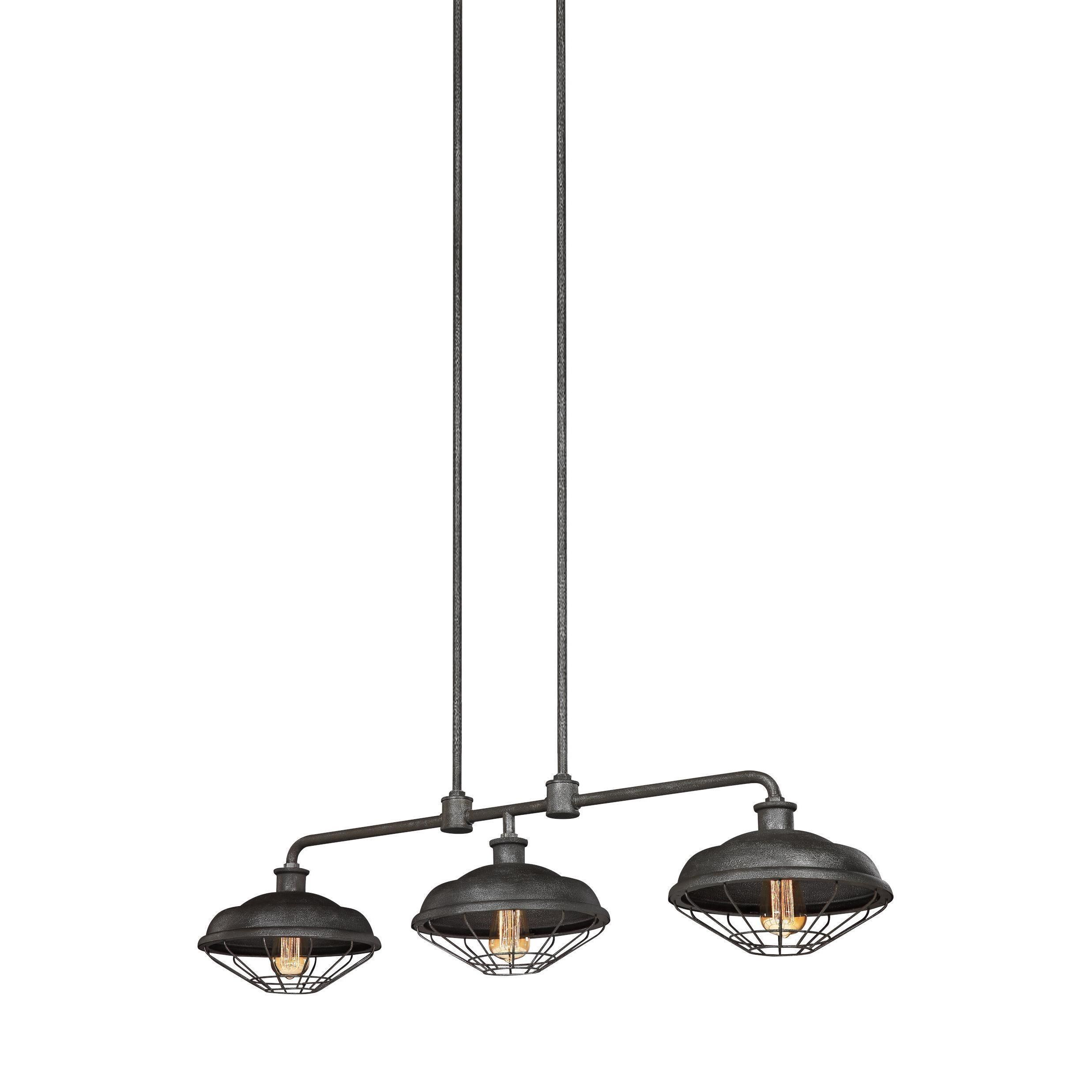 Feiss lennex light slated grey metal chandelier light island