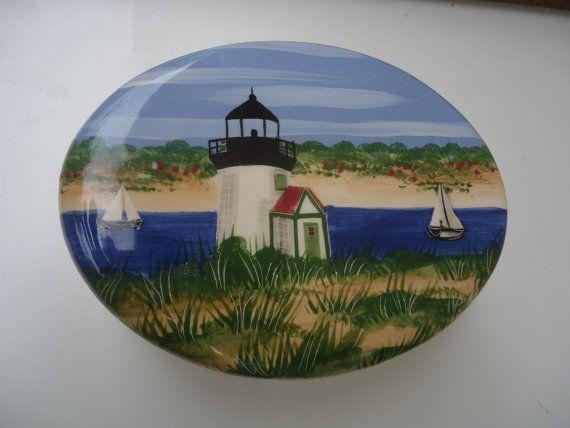 Spencer & Spencer Ceramic Nautical Trinket Box by Happybeginning, $19.97