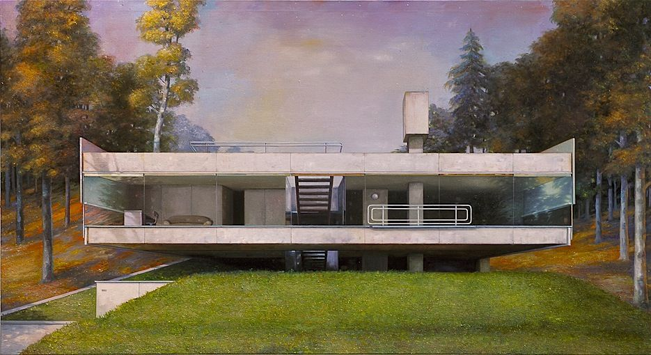 Jens Hausmann modern house 5 Painting and Illustration Pinterest