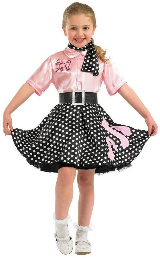 Girls ROCK n ROLL SKIRT FANCY DRESS 50/'s COSTUME grease CHILDRENS MUSIC NOTE