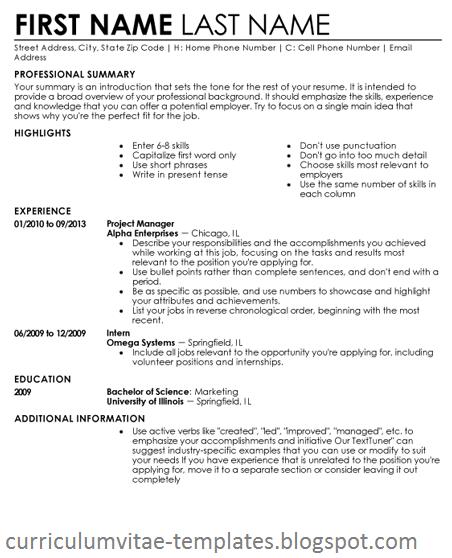 Cv Resume Templates  Curriculum Vitae    Cv Resume