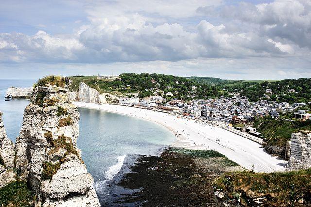 Les Falaises avec la baie, Etretat  Normandy