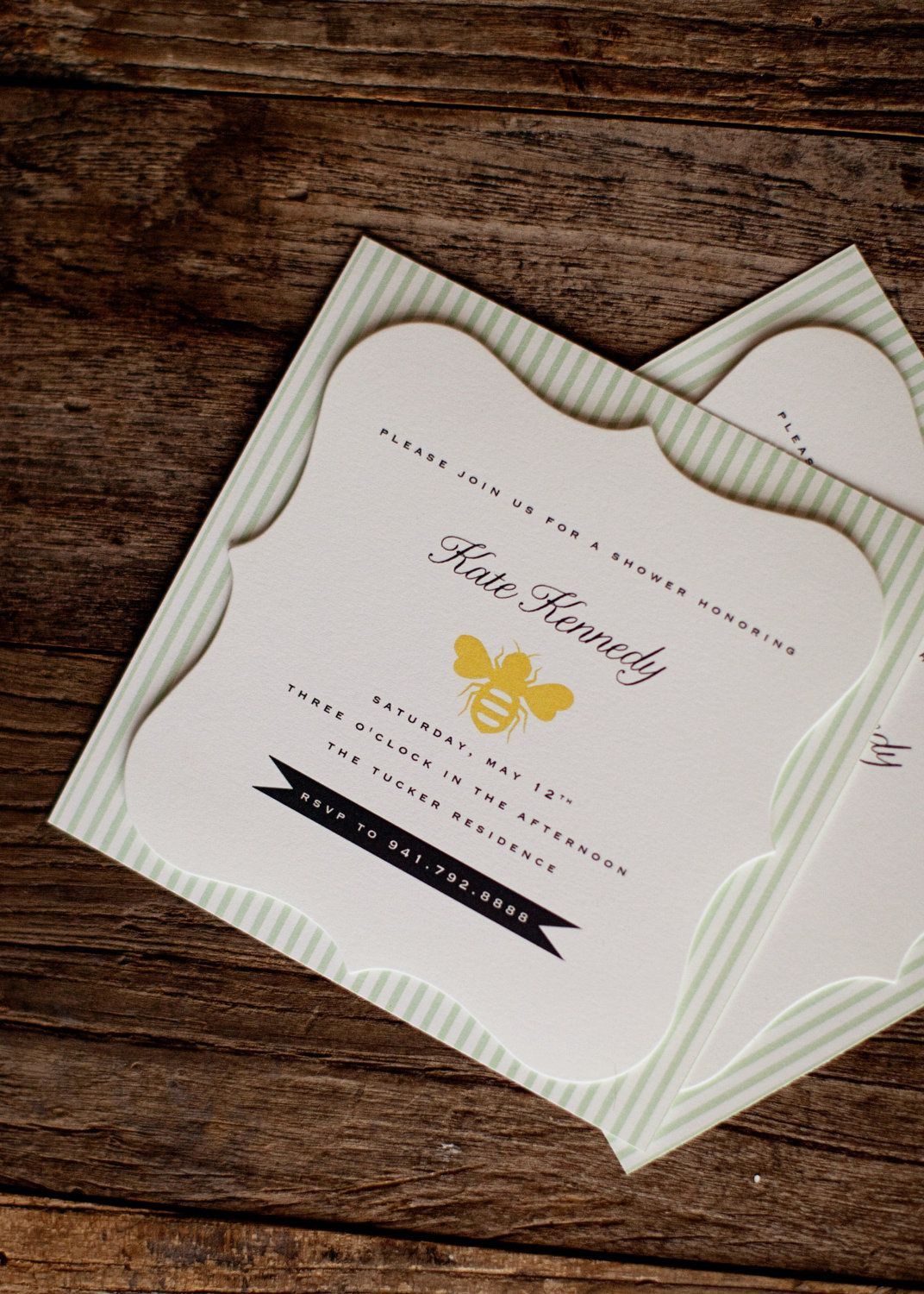 how early should you send out wedding shower invitations%0A Bee Wedding Shower Invitations