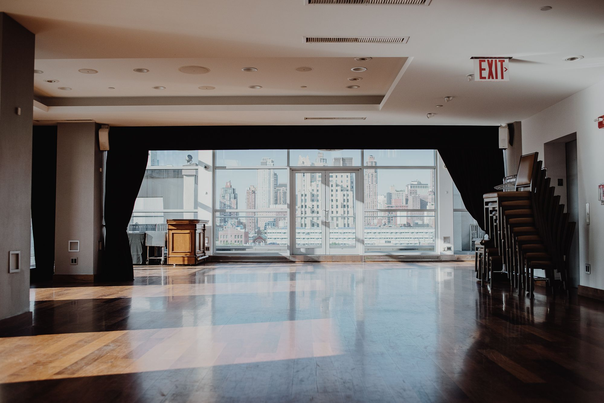 NYC Wedding Venue with a View Penthouse 45 NYC Skyline