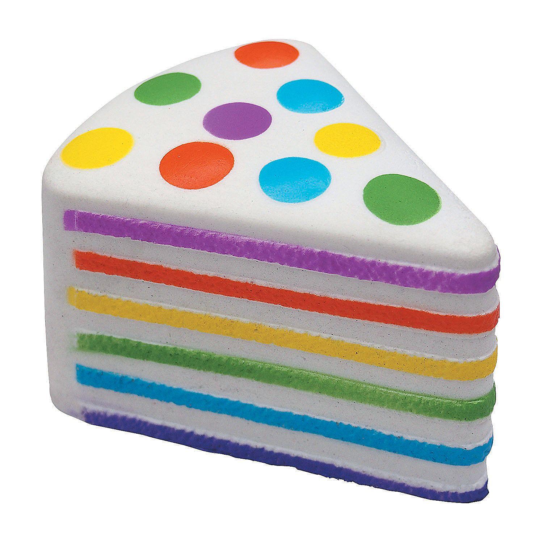 Rainbow+Cake+Slow Rising+Squishy+ +Orientaltradingcom