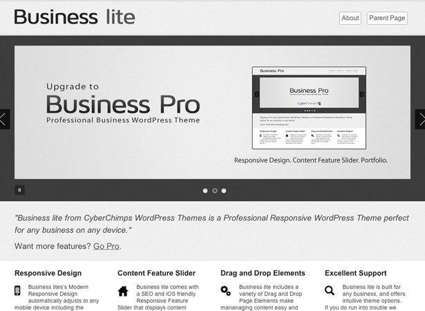 Free Business Lite Responsive Theme Free Wordpress Themes Responsive Design Wordpress Theme Responsive